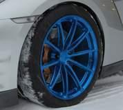 GT-R on GT1 5-Lug Wheels in Transparent Blue