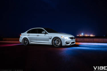 "2016 BMW M3 | '16 BMW M3 on 20"" Avant Garde's - Side Body Shot"