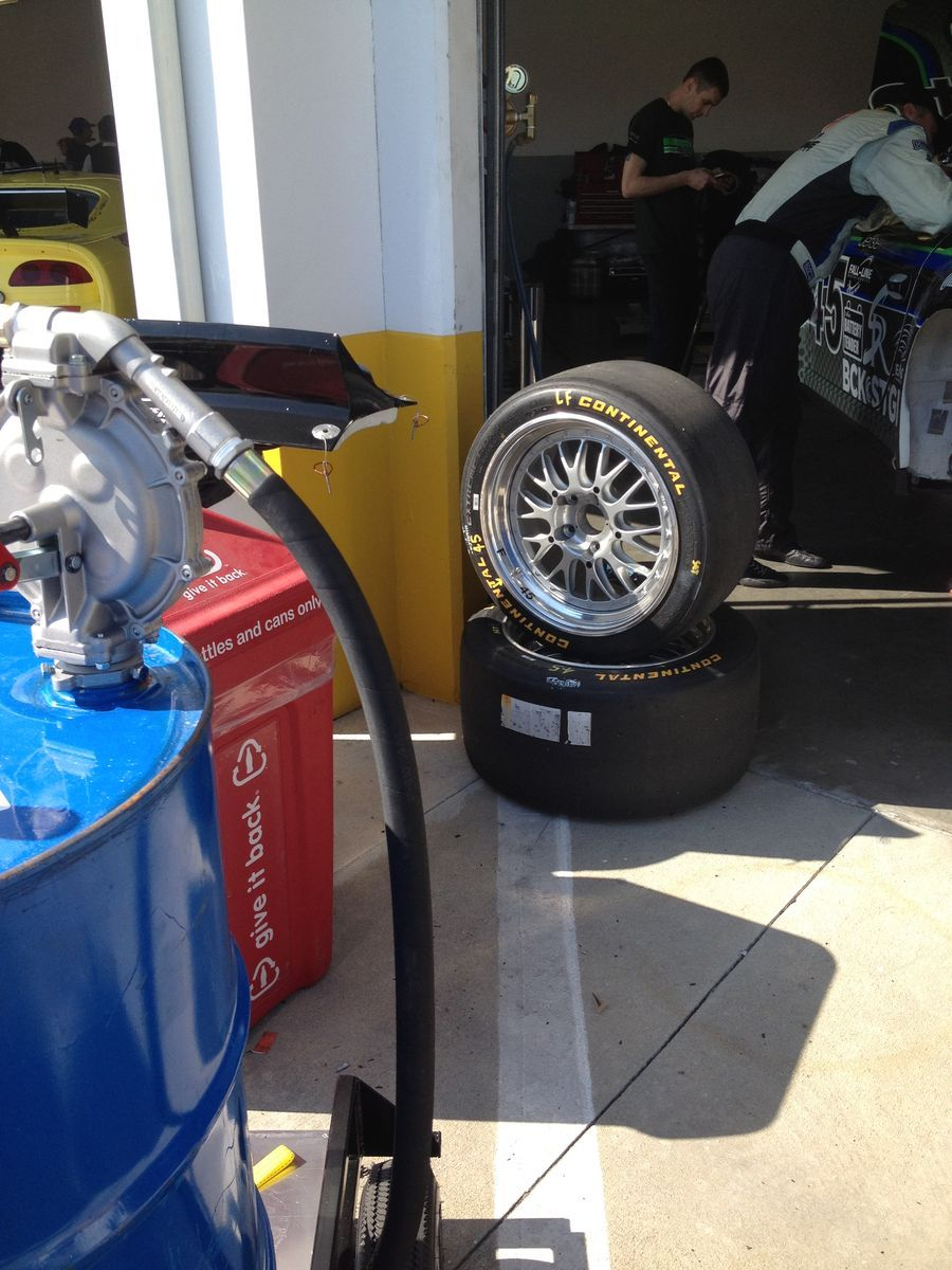 | Just some Continental Tires getting a little tan as they wait for their turn on the car!