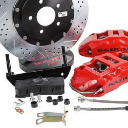 Baer 6S six-piston calipers and large rotors