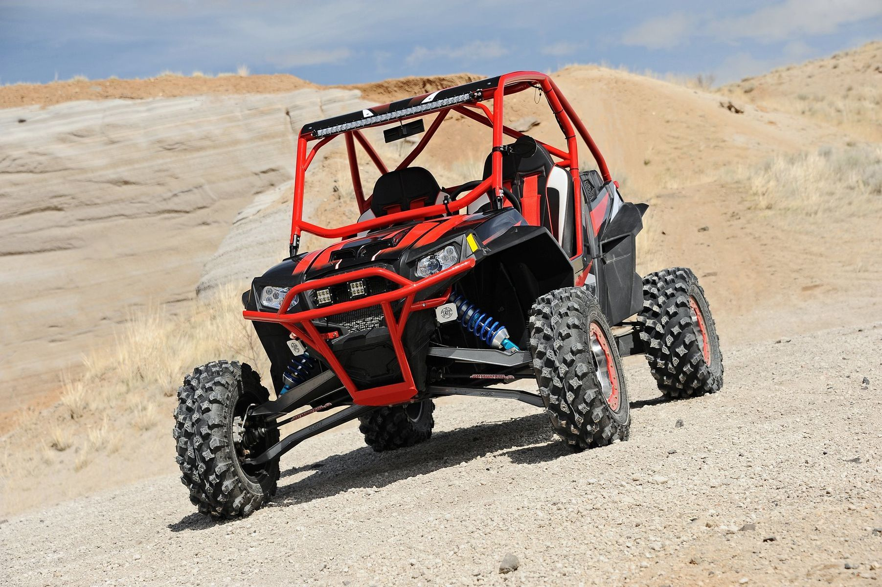 | Polaris RZR with Rigid Industries lights
