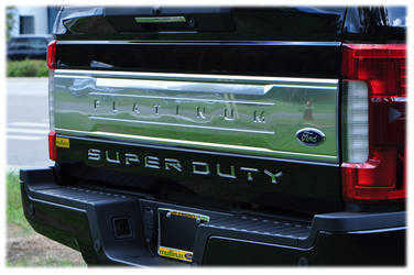 2017 Super Duty Tailgate Inserts - Liquid Chrome