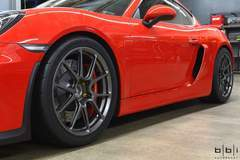 BBi Autosport Cayman GT4 on Forgeline One Piece Forged Monoblock GS1R Wheels