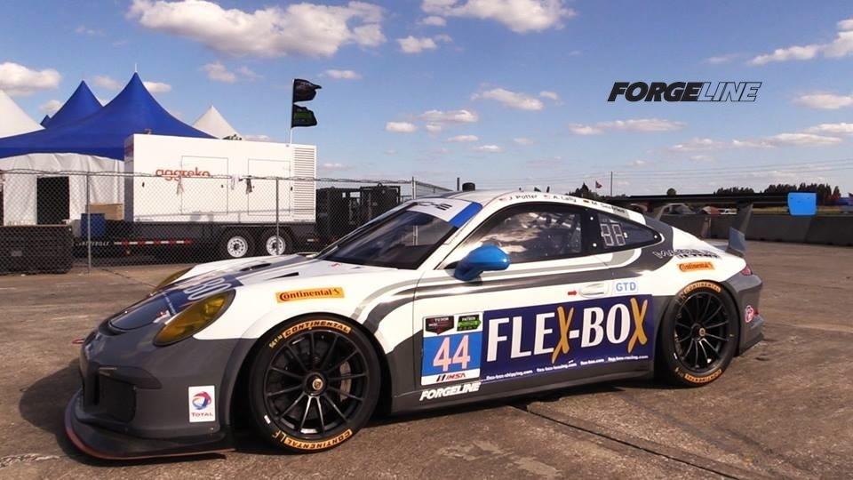2014 Porsche 911 | Magnus Racing's #44 GTD Porsche on Forgeline One Piece Forged Monoblock GTD1 Wheels