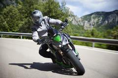 Riding the Kawasaki in the mountains