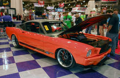 Ringbrothers Producer Mustang on Forgeline RB3C Centerlock Wheels at SEMA 2011