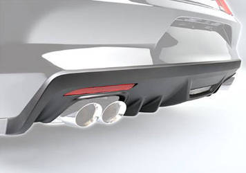 2015 Mustang ROUSH Rear Fascia Valance (Molded Black)