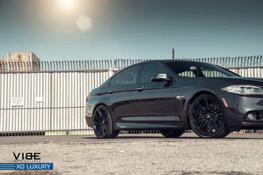 "2014 BMW 5 Series | BMW 535i on 20"" XO Luxury Milan Wheels - Side Angle View"