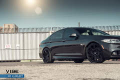"BMW 535i on 20"" XO Luxury Milan Wheels - Side Angle View"