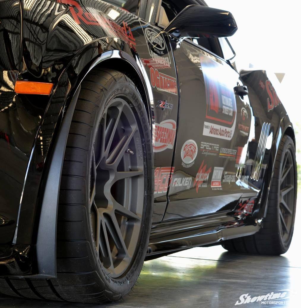 2015 Chevrolet Camaro   Ken Thwaits' Camaro Z28 on Forgeline One Piece Forged Monoblock GA1R Open Lug Cap Edition Wheels - Spokes