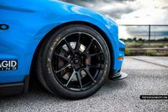 Anthony Imperato's Grabber Blue S197 Mustang GT on Forgeline One Piece Forged Monoblock GS1R Wheels