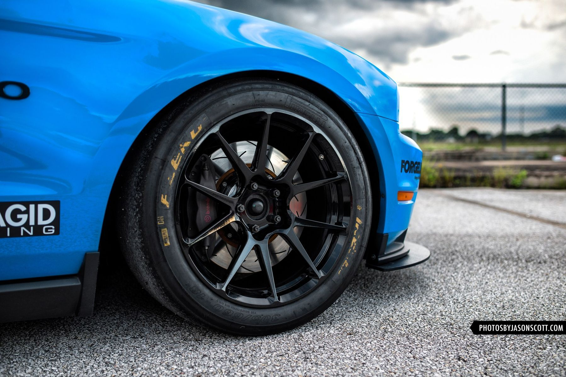 2011 Ford Mustang | Anthony Imperato's Grabber Blue S197 Mustang GT on Forgeline One Piece Forged Monoblock GS1R Wheels