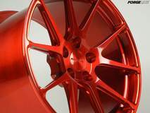 Forgeline One Piece Forged Monoblock GA1R in Transparent Red