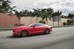 Race Red Mustang on Velgen Wheels