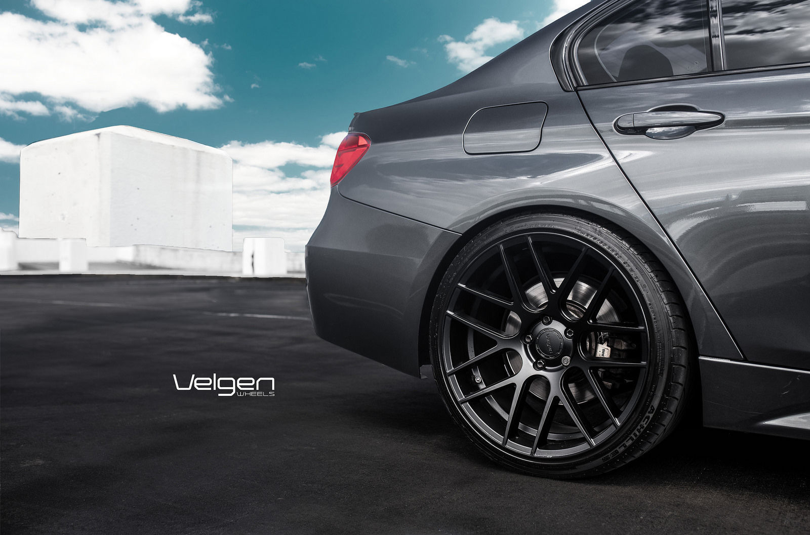 Bmw F30 On Velgen Wheels Vmb7 Rear Wheel Gap