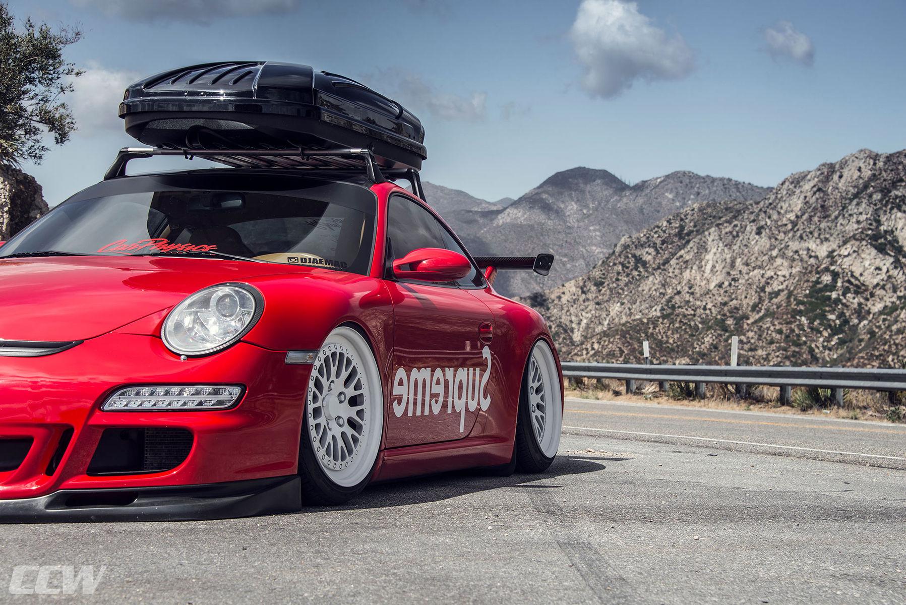 2013 Porsche 911 | Supreme Red Bagged Porsche 997 911 Carrera - CCW Classic 3 Piece Wheels