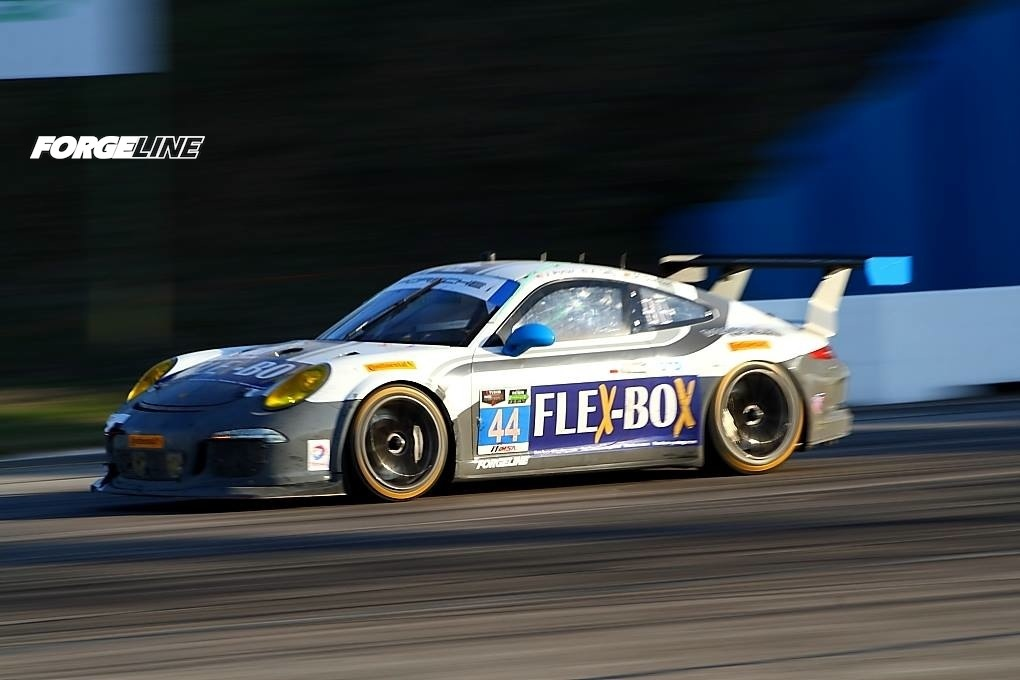2014 Porsche 911 | Magnus Racing's #44 GTD Porsche on Forgeline One Piece Forged Monoblock GTD1 Wheels