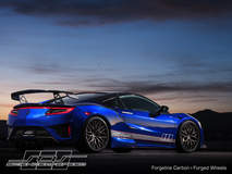 Science of Speed's 2017 Acura NSX on Forgeline Carbon+Forged CF203 Wheels