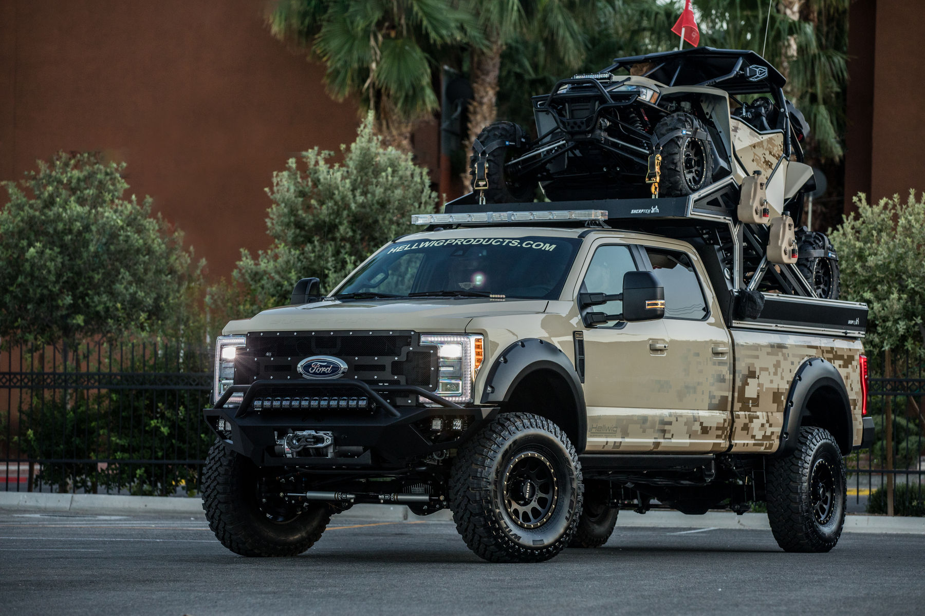 2017 Ford Super Duty F 350 Lariat By Hellwig Suspension Products Featuring Warn Industries 16 5ti S Winch Fordsema