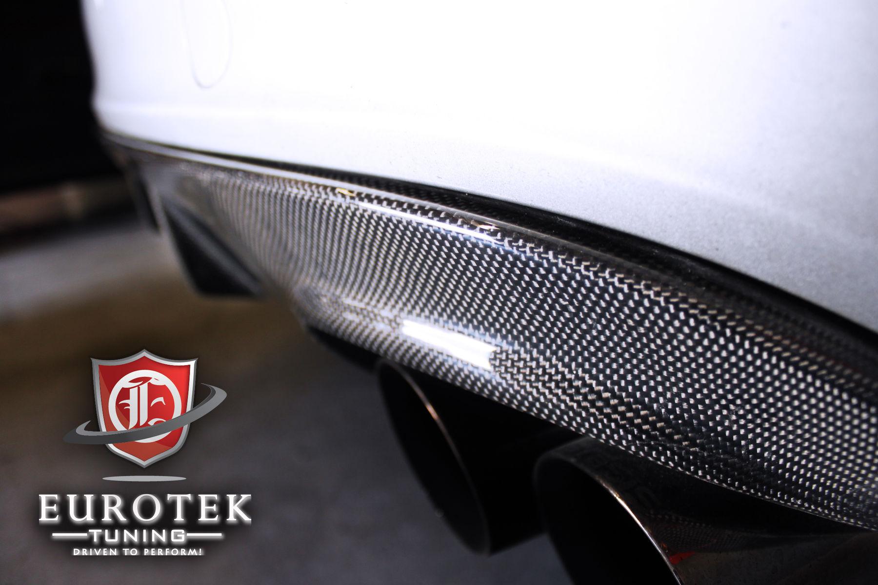 2011 Audi S4 | EuroGEAR Audi B8 S4 Rear Carbon Fiber Splitter (for rear valance)