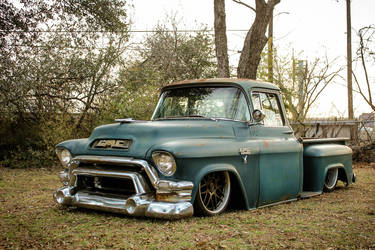 "1955 GMC  | JP's Hales Speed Shop ""Boomer"" 1955 GMC Truck on Forgeline DE3C Wheels"