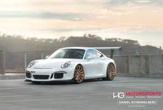 Scottie B's Porsche 991 GT3 Super Street Cup on Forgeline One Piece Forged Monoblock GT1 Wheels
