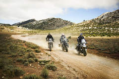 Riding off-road with friends