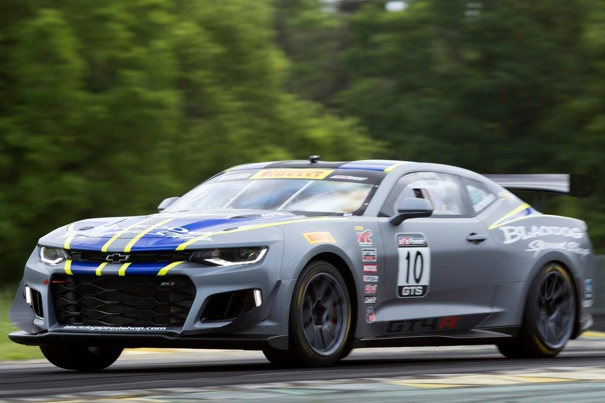 2017 Chevrolet Camaro | Lawson Aschenbach Double Podium at VIR in the #10 Black Dog Speed Shop Camaro GT4.R on Forgeline GS1R Wheels
