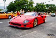 Ferrari F40 at San Antonio Cars and Coffee!!