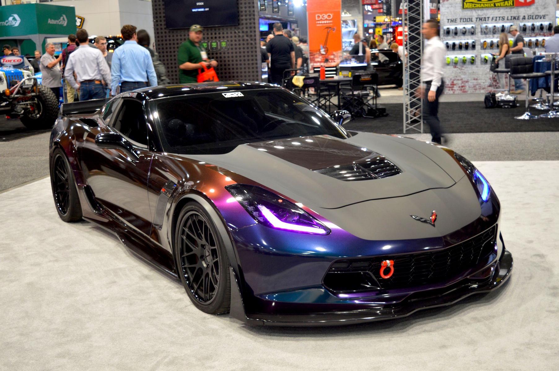 2015 Chevrolet Corvette Z06 | Atlanta Custom Wraps' C7 Corvette Z06 on Forgeline DE3C Concave Wheels