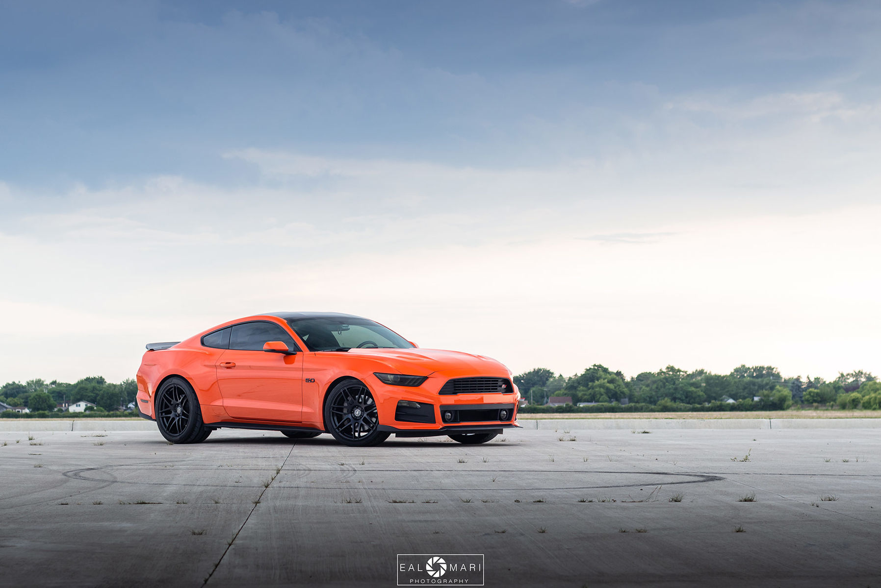Ford Mustang GT Gloss Black Forgestar F14 Wheels