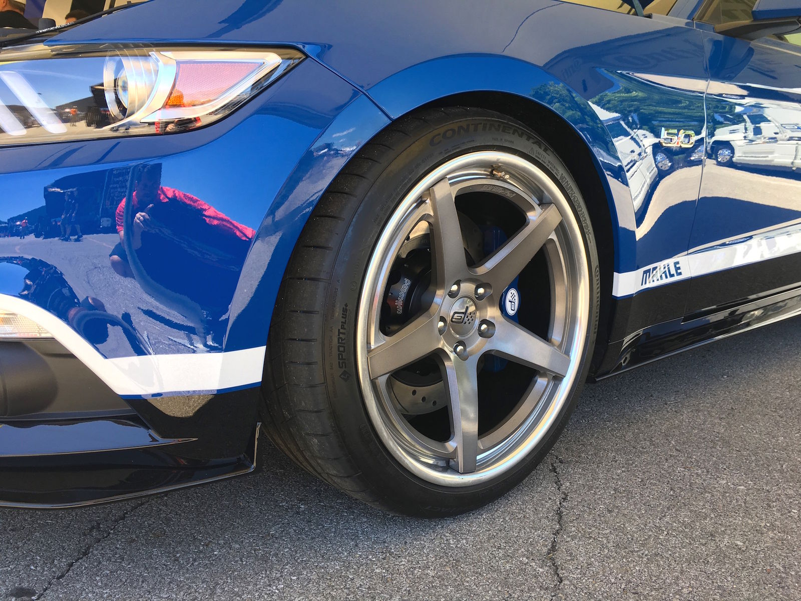 2017 Ford Mustang   Petty's Garage 1000HP Mahle Mustang GT on Forgeline CF3C-SL Wheels