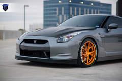 Gray Nissan GTR - Hood