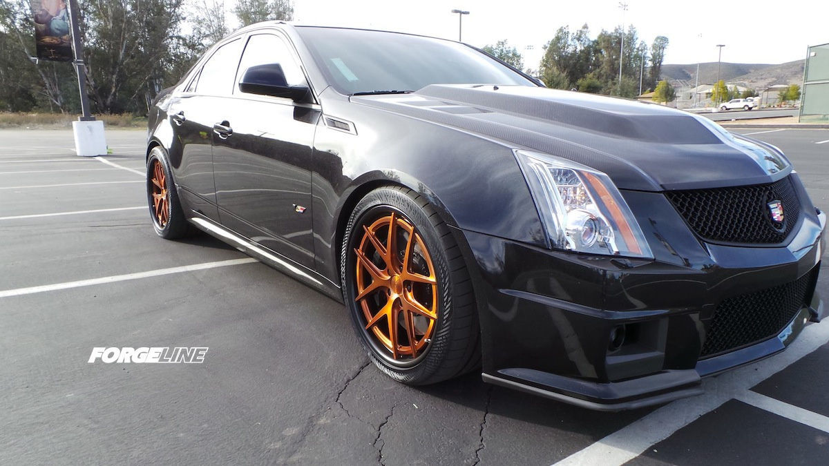 2013 Cadillac CTS-V | DJ La Chappa's CTS-V Sedan on Forgeline VX3C-SL Wheels