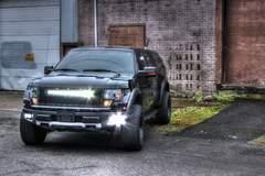 Black Raptor with Rigid Industries lights
