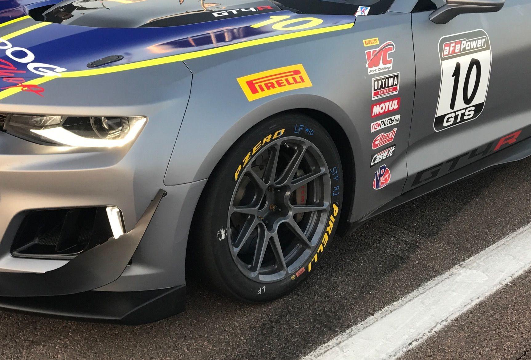 2017 Chevrolet Camaro   Lawson Aschenbach Starts the 2017 Pirelli World Challenge Season From the Pole in the New Chevrolet Camaro GT4.R on Forgeline One Piece Forged Monoblock GS1R Wheels!