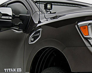 2016 Nissan Titan Hood Hinge LED Light Pod Mounts