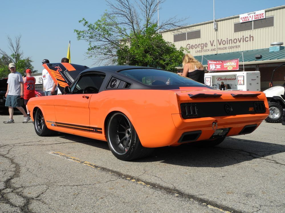1965 Ford Mustang | Ringbrothers Producer Mustang on Center Locking Forgeline RB3C Concave Wheels