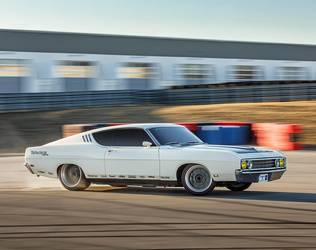 1969 Ford  | Tom Bailey's Sled Alley Ford Torino Talladega on Forgeline GZ3 Wheels