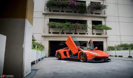 Aracio Argos Orange Lamborghini Aventador LP700-4 - ADV.1 ADV5.3 Track Spec CS Series Wheels
