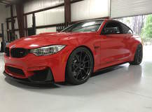 Red BMW F82 M4 on Forgeline One Piece Forged Monoblock GA1R Wheels
