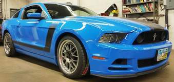 Ron Wright's Mustang Boss 302 on Forgeline GW3R Wheels