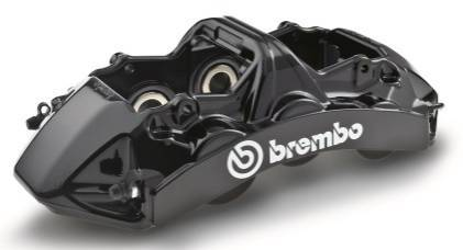 Brembo six piston front brake calipers