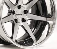 Forgeline CV3C Concave Wheel Finished with Gloss Black/HTM Center, Gloss Black Inner, and Polished Outer