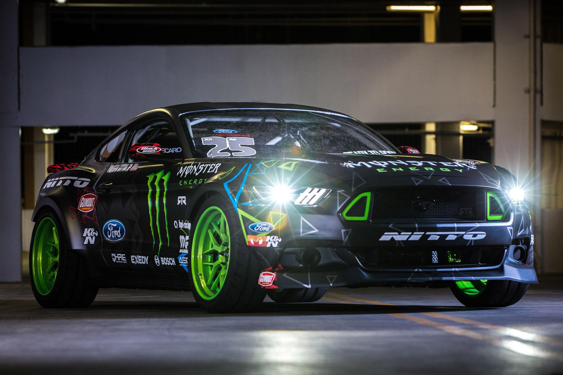 Vaughn Gitten Jr S 15 Mustang Drift Car Lights On