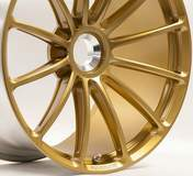 Forgeline One Piece Forged Monoblock GT1 Wheel in Satin Gold