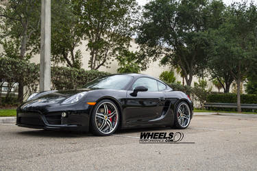 "2014 Porsche Cayman S | Our client's Porsche Cayman S with 20"" COR Brava wheels"