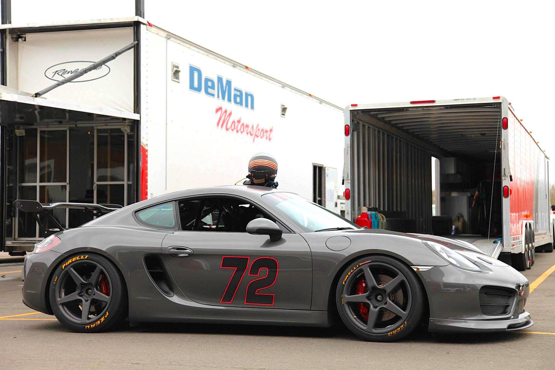 2015 Porsche Cayman S | Track-prepped Porsche Cayman S by DeMan Motorsport on Forgeline CF1R Open Lug Wheels