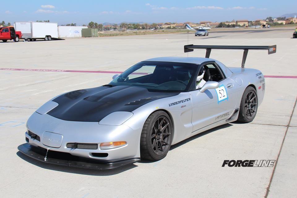 2002 Chevrolet Corvette   Karl Dunn's C5 Corvette on Forgeline One Piece Forged Monoblock GA1R Open Lug Wheels