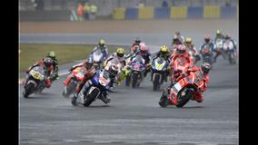 2013 MotoGP - LeMans - Dovi leads the pack
